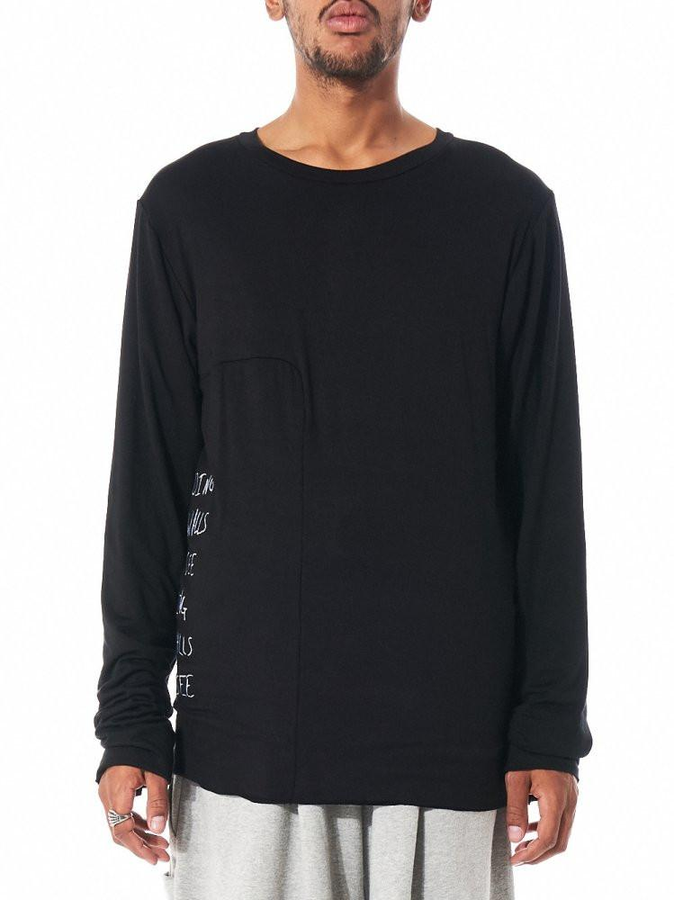 'Hiding' Long Sleeve Pullover (BF_A16_T01 BLACK) - upcube