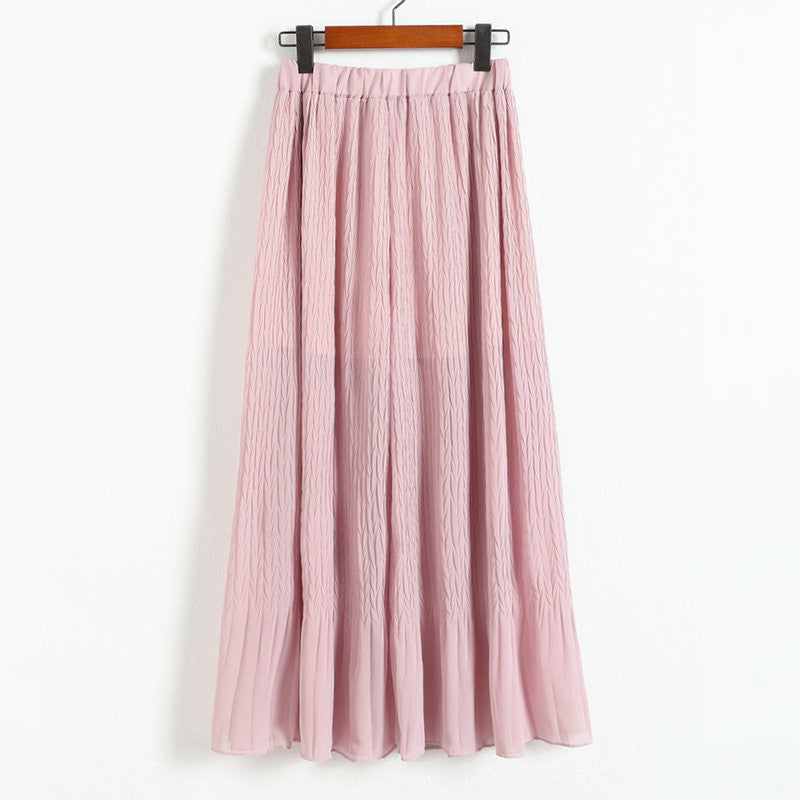 2017 summer women beach bohemian chiffon elastic high waist pleated wide leg pants skorts skirt trousers femme culottes Pants & Capris fashiongogo- upcube