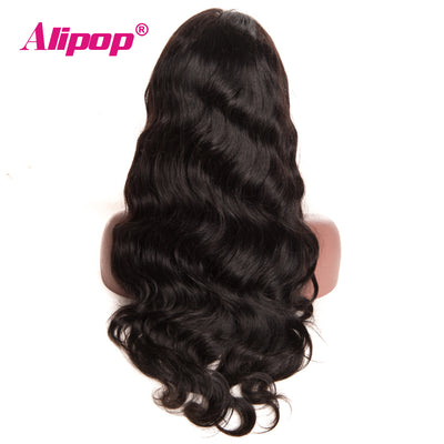 Brazilian Lace Front Human Hair Wigs For Black Women With Baby Hair ALIPOP Body Wave Wig NonRemy Lace Front Wig Pre Plucked