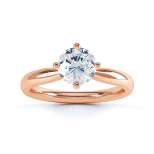 Adora Charles & Colvard Forever One 18k Rose Gold Solitaire