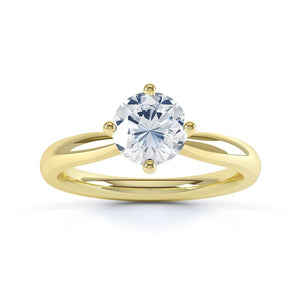 Adora Charles & Colvard Forever One 18k Yellow Gold Solitaire