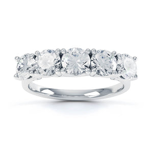 Amabel Charles & Colvard Moissanite 18k White Gold Eternity