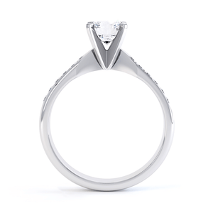 Evangelina Charles & Colvard Moissanite Platinum Channel Set Ring