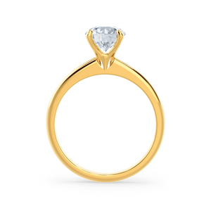 Grace Charles & Colvard Moissanite Solitaire 18k Yellow Gold Ring