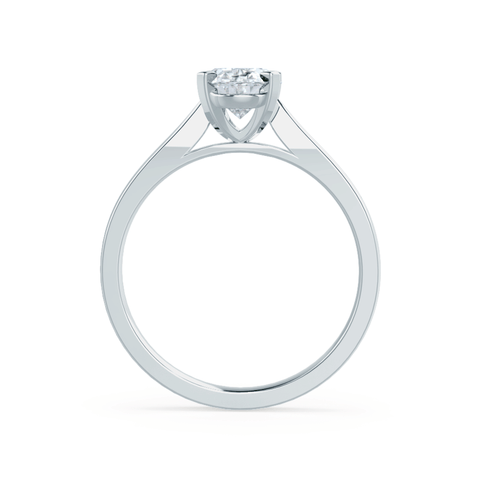 Isabella Charles & Colvard Moissanite 18k White Gold Oval Solitaire Ring