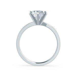 Juliet Charles & Colvard Moissanite Platinum Solitaire Ring