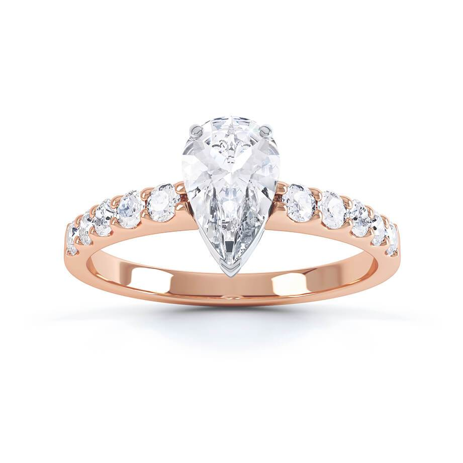 Olivett Charles & Colvard Moissanite & Diamond 18K Rose Gold Solitaire Ring