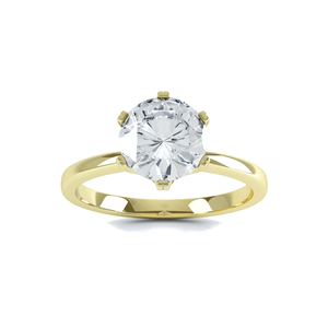 Serenity Charles & Colvard Moissanite 18k Yellow Gold Solitaire Ring