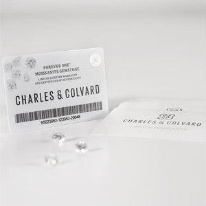Charles & Colvard Forever One H&A Round Cut Loose Moissanite D-F Colourless