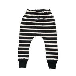 Black & White Stripe Leggings, Harems, or Joggers