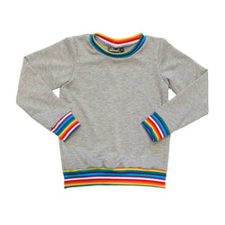 Long Sleeve Retro Rainbow Top