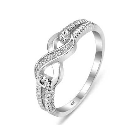 Rings, Sterling Silver Rings, Infinity Ring, Cubic Zirconia, Sterling Silver, Jewellery, Jewelry