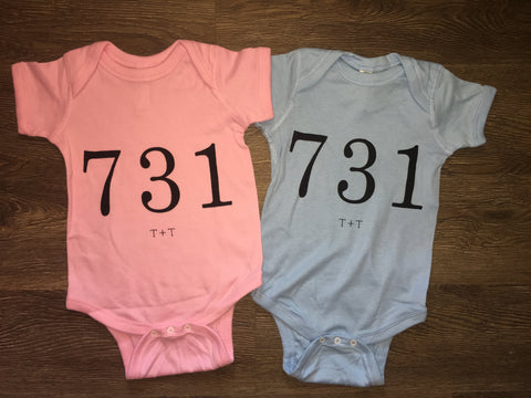 Area Code 731 Onesie - TUCKED & THREADED