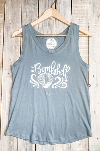 Bombshell Dusty Blue Tank