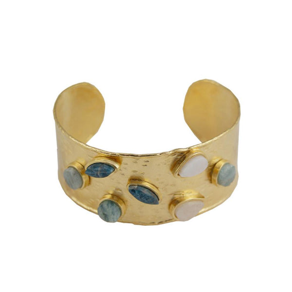 Multi Colored Stone Cuff | Marcia Moran |Fashion Accessories | Bracelet