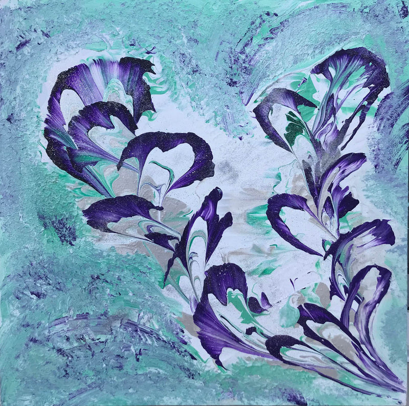 Purple Lillies Painting