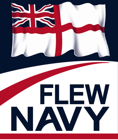 Flew Navy Royal Navy Fleet Air Arm Aircraft Carriers Sticker White Ensign