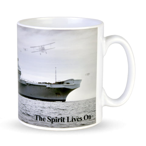 "HMS Queen Elizabeth, Swordfish and F-35B.  ""The Spirit Lives On"" Mug"