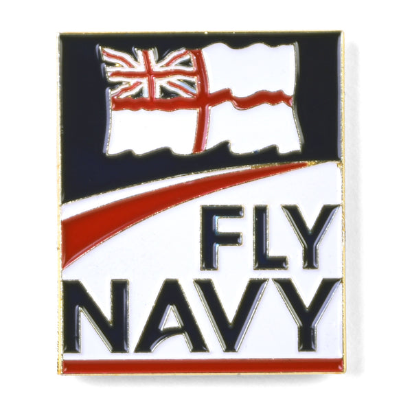 Fly Navy Royal Navy Ename Pin Badge Gift Accessory