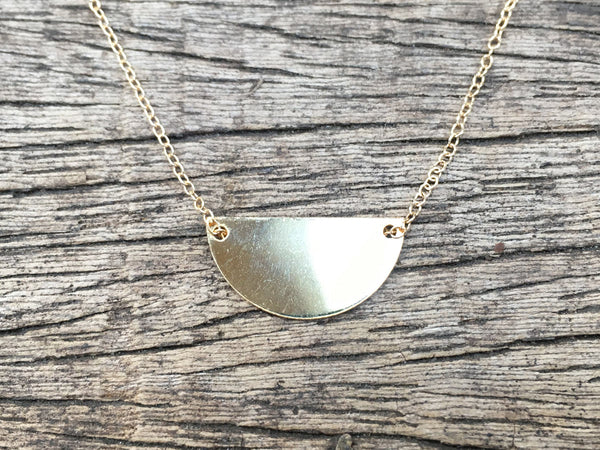 Shiny Crescent Necklace