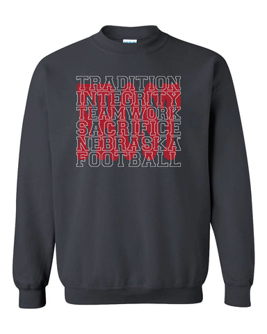 "Nebraska Football with ""FROST"" Background Crewneck Sweatshirt"