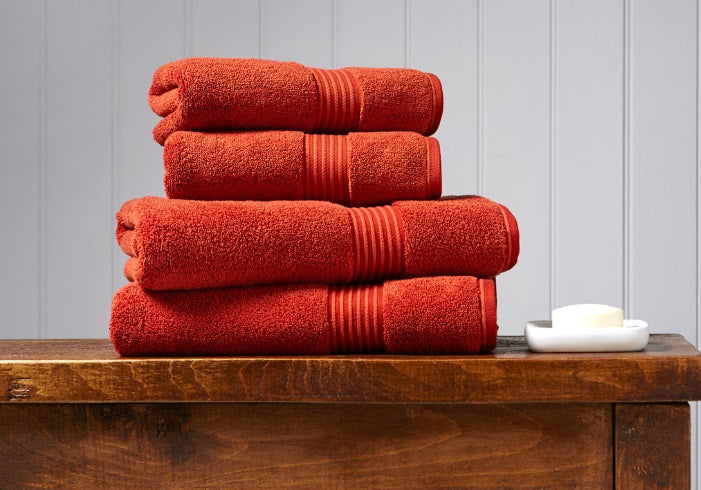 Christy Supreme Paprika 650gsm Towels