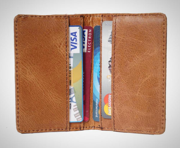 Leather Credit Card Sleeve - ZipperNext