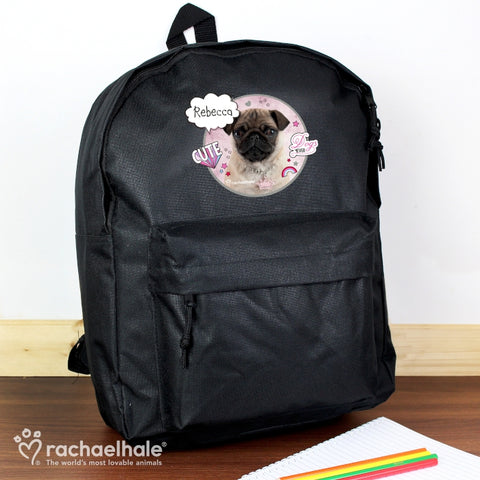 Personalised Rachael Hale Doodle Pug Backpack