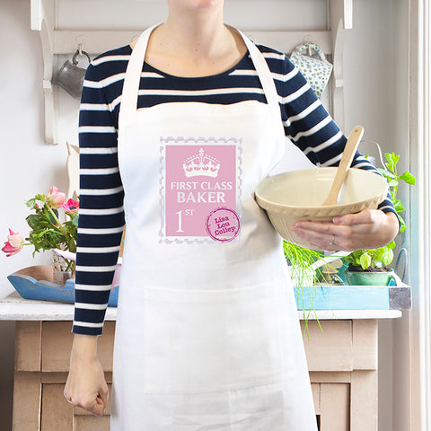 Personalised 'FIRST CLASS' Apron