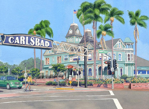 Carlsbad Sign - Matted Print
