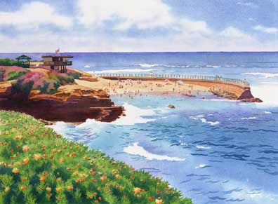 Children's Pool in La Jolla - Matted Print