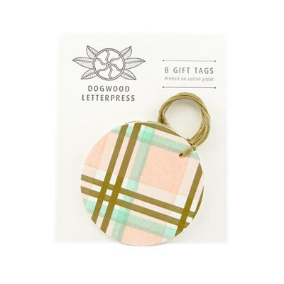 Gift Tags - Pastel Plaid