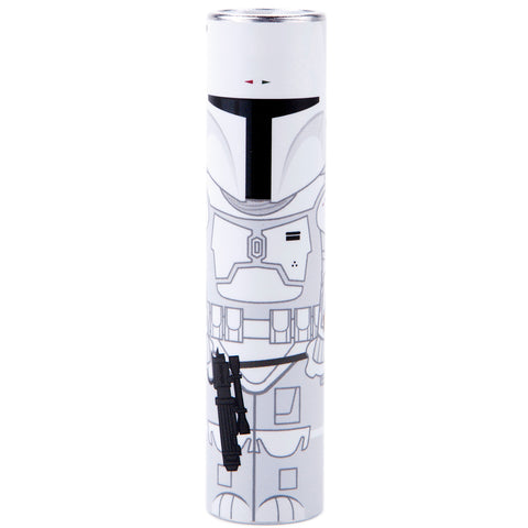 Boba Fett White (Ltd. Ed.) MimoPowerTube Star Wars 2600mAh Portable Power Bank
