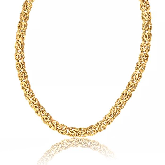 "10K Yellow Gold Byzantine Necklace - 18"" - 9.6 grams!"