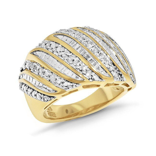 0.25 Carat Diamond Fashion Ring in Gold Over Sterling Silver