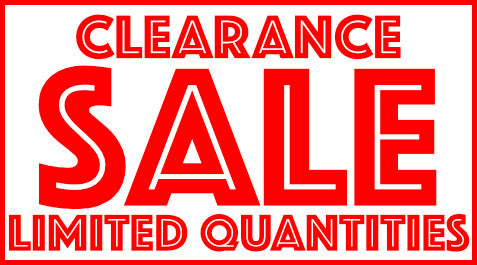 CLEARANCE SECTION Now Open!