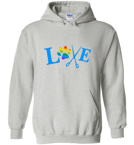 LOVE with Rainbow Paw Print Hoodie