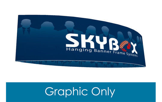 Football shaped hanging banner display inside and outside graphic only 10 foot by 42 inch