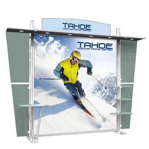 "Acrylic Top Panel (2) Header Panel Set with Graphic for Tahoe Modular Display ""D"""