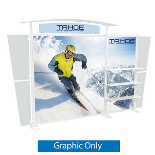 "Acrylic Top Panel (2 Headers with Graphic Only) for Tahoe Display Model ""B"""