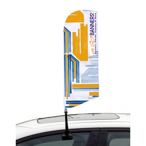 Car Bowflag® Angled Double Sided Graphics Package QTY: 10