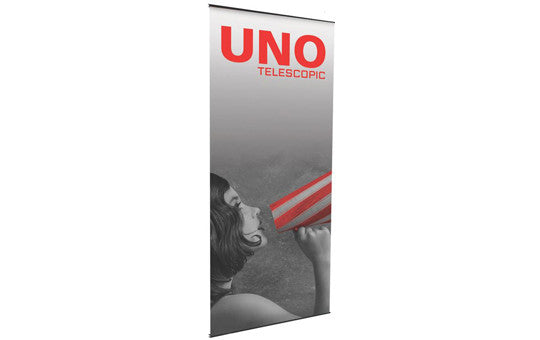 "Uno Mega 36"" Wide Single Sided Banner Stand (with Telescopic Pole)"