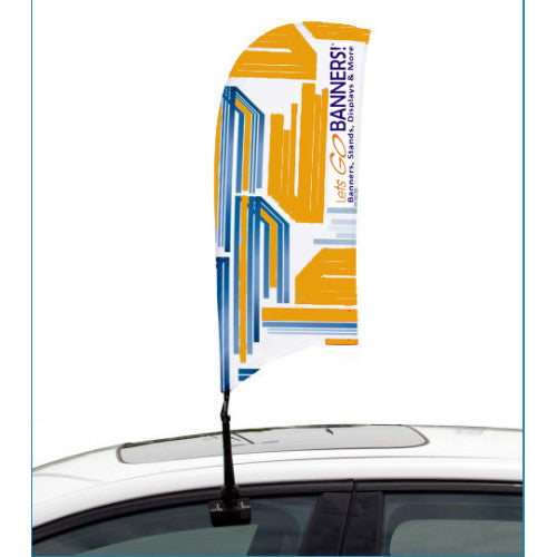 Car Bowflag® Concave Double Sided Graphics Only QTY: 25
