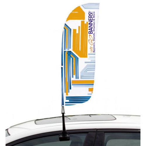Car Bowflag® Convex Single Sided Graphics Only QTY: 10