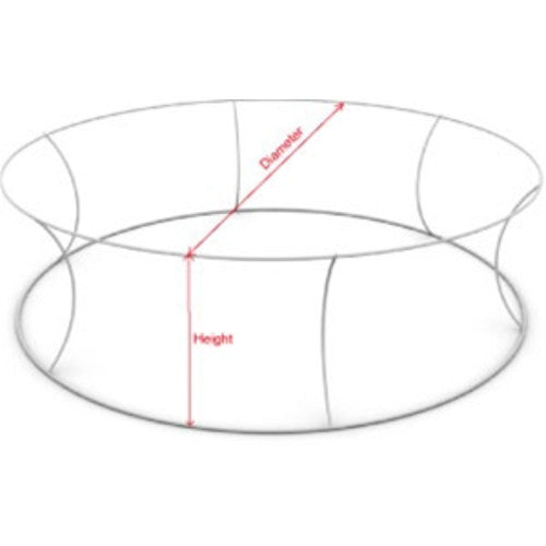8 Foot by 60 Inch Circle Hanging Banner Display Frame