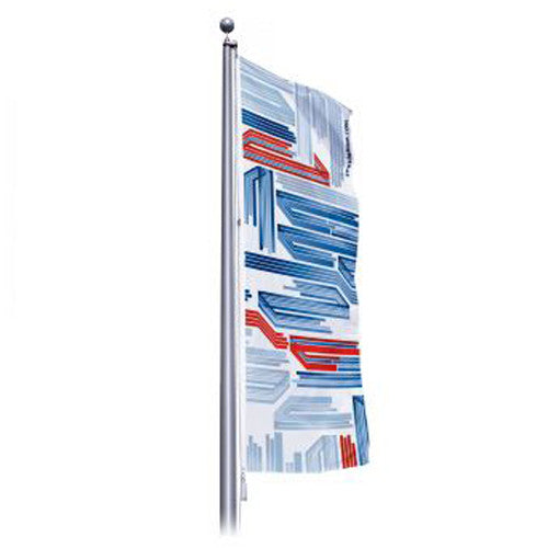 "60"" Wide by 192"" H Single Sided Custom Outdoor Pole Flag ""Portrait Layout"""