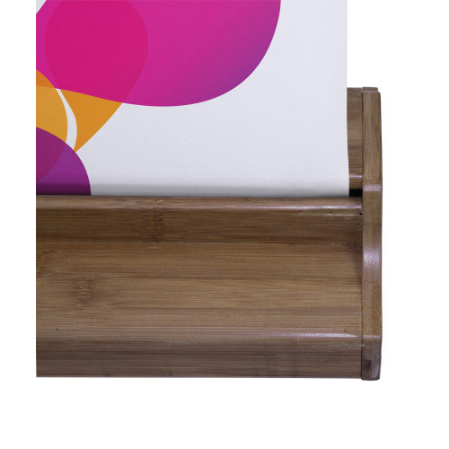 "33.6"" W by 79.2"" W Bamboo Roll Up Stand and Hardware Only (no graphic)"