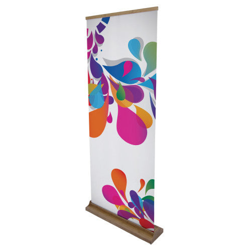 "33.6"" W by 79.2"" H Bamboo Roll Up Vinyl Standard 13 oz Graphics Package"