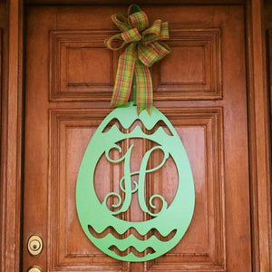 Easter Egg Monogram Door Hanger,