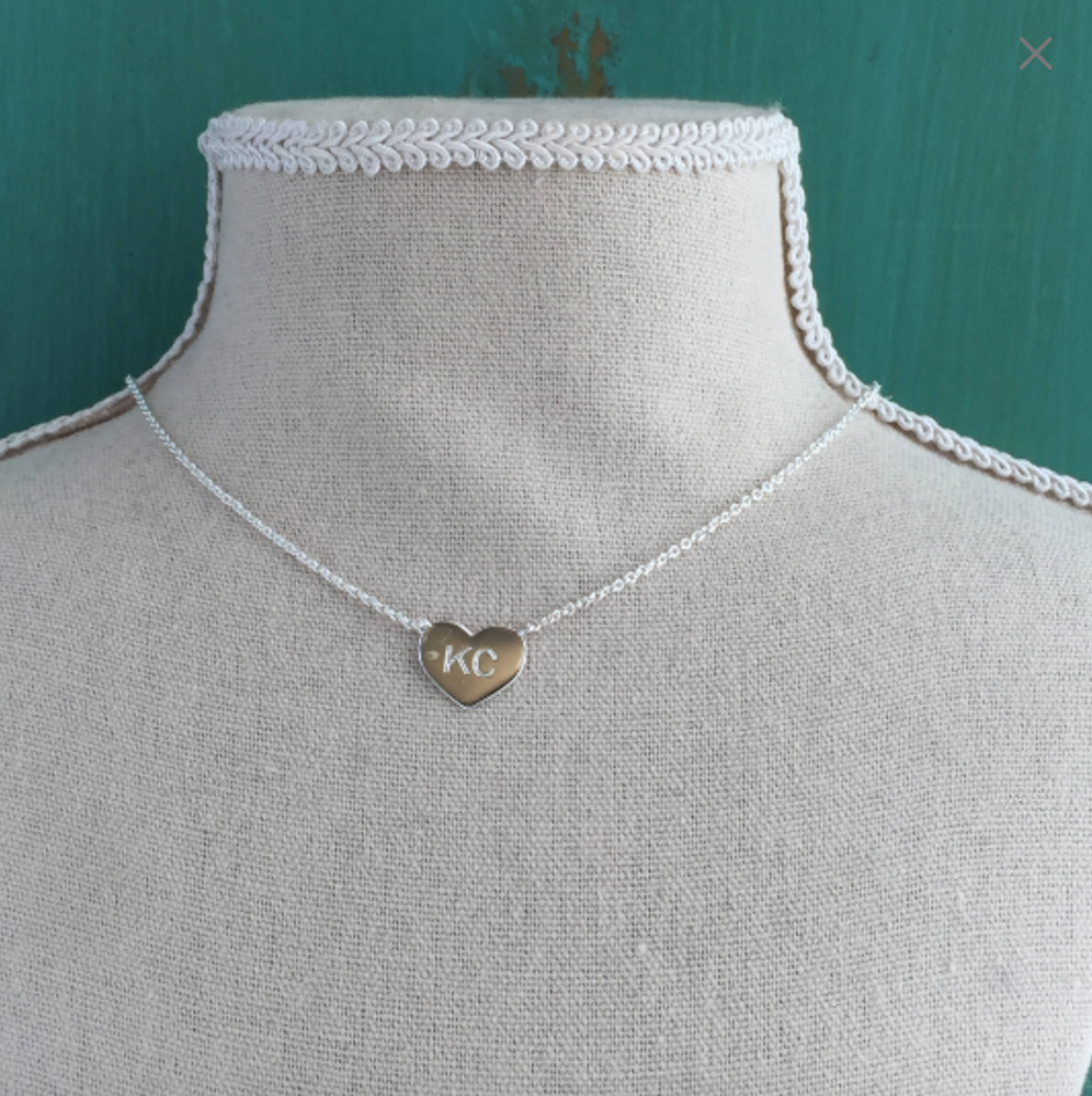 KC Heart Necklace Pure Silver Plated